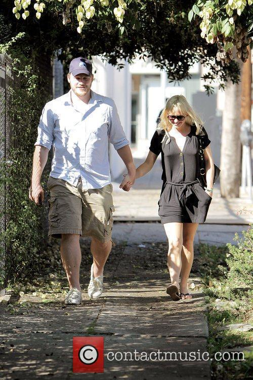 Anna Faris, husband Chris Pratt leaving The Cat and Fiddle in Hollywood after eating lunch. 13