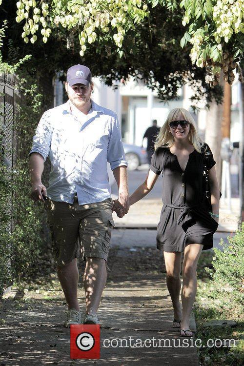 Anna Faris, husband Chris Pratt leaving The Cat and Fiddle in Hollywood after eating lunch. 14