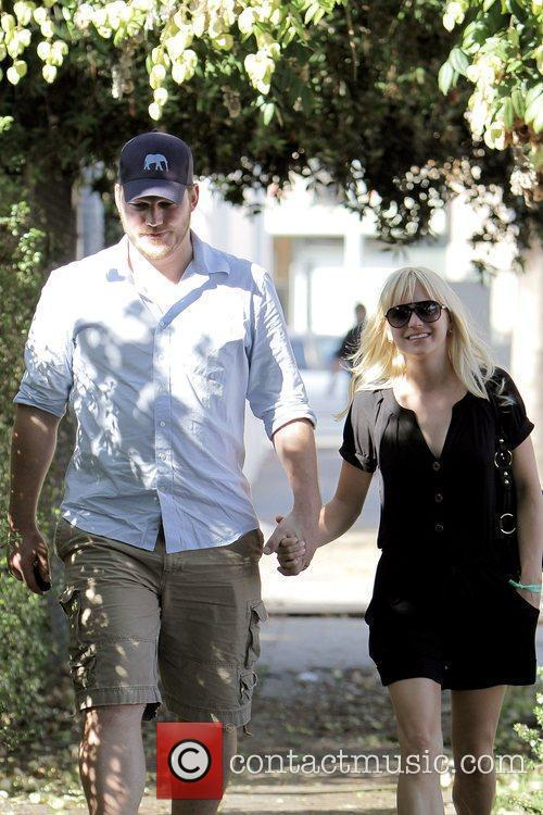 Anna Faris, husband Chris Pratt leaving The Cat and Fiddle in Hollywood after eating lunch. 23