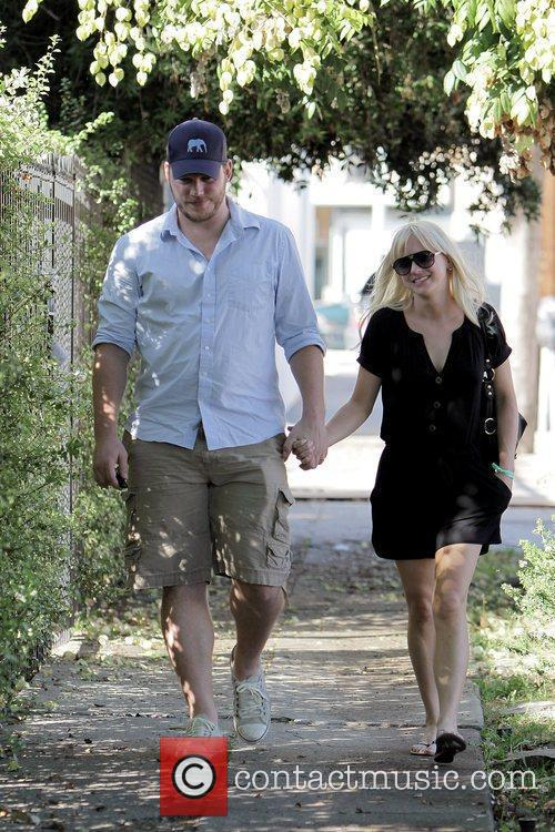Anna Faris, husband Chris Pratt leaving The Cat and Fiddle in Hollywood after eating lunch. 17