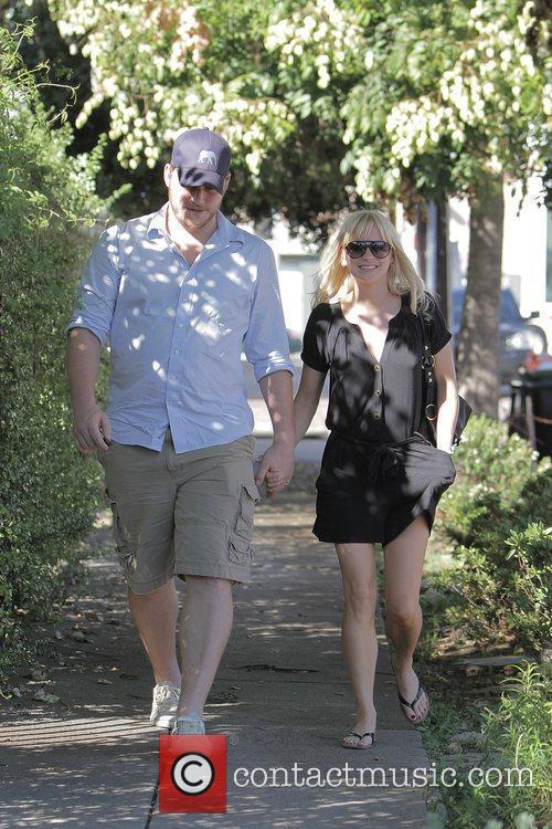 Anna Faris, husband Chris Pratt leaving The Cat and Fiddle in Hollywood after eating lunch. 22