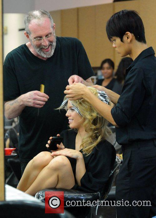 AnnaLynne McCord pampers herself at Gavert Atelier hail...