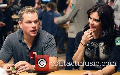 Matt Damon and Tiffany Michelle  Ante Up...