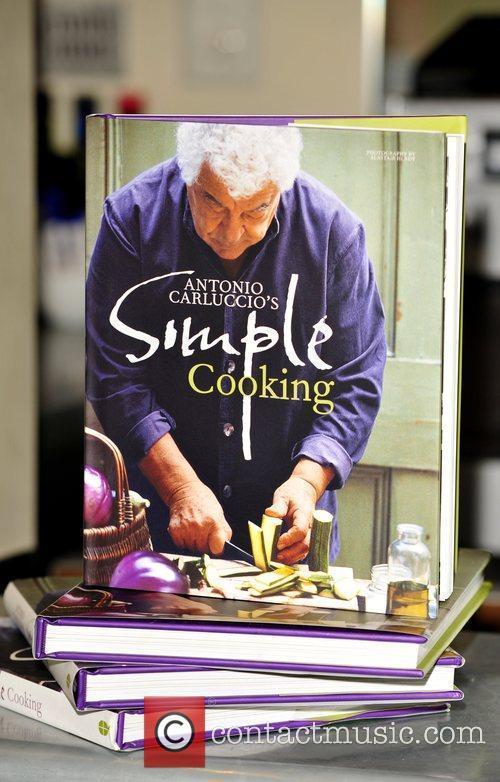 Antonio Carluccio launches his new book 'Simple Cooking'...