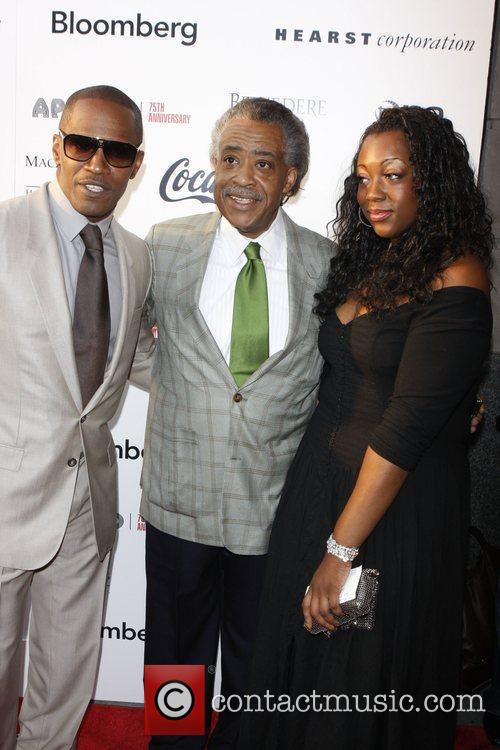 Jamie Foxx, Rev. Al Sharpton and Dominique Sharpton 4