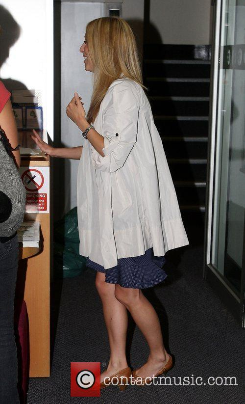 Kate Walsh arriving at the BBC Radio One...