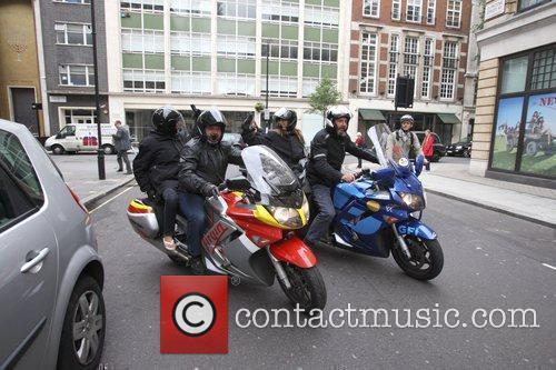 Yasmina Siadatan and Kate Walsh ride away on...