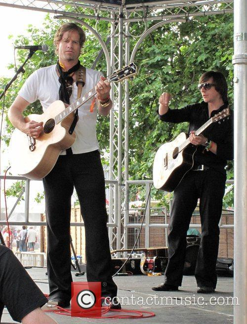Arno Carstens performs at the Hard Rock Calling...