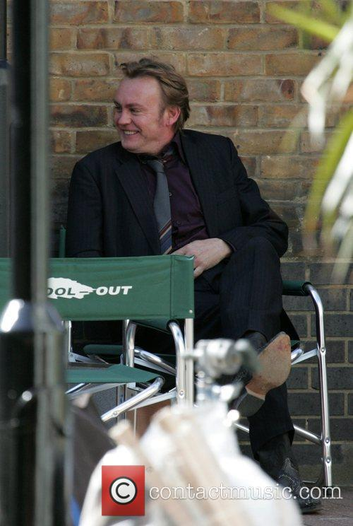 On the set of 'Ashes to Ashes'