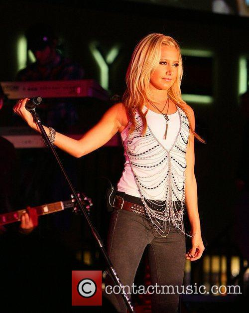 Ashley Tisdale performs live at a free concert...