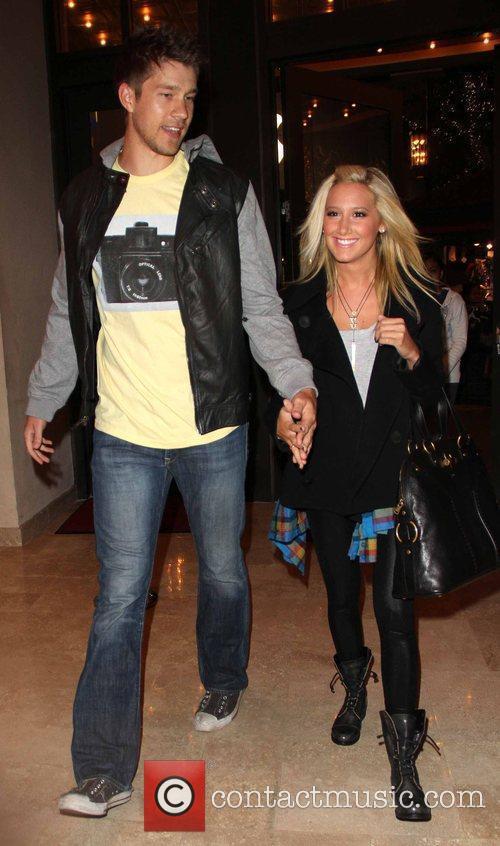 Ashley Tisdale and boyfriend Scott Spear visit a...