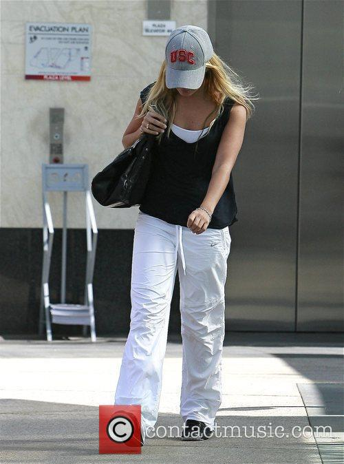 Ashley Tisdale on her way to her gym...