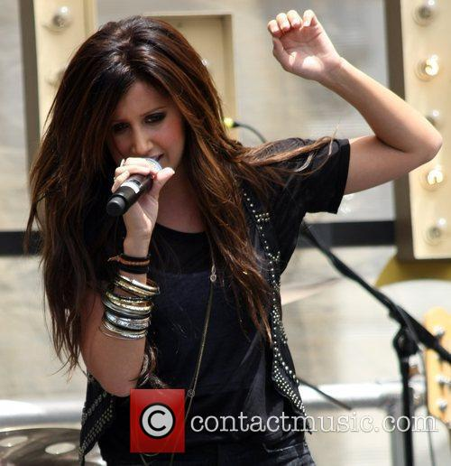 Ashley Tisdale performs at The Grove Los Angeles,...