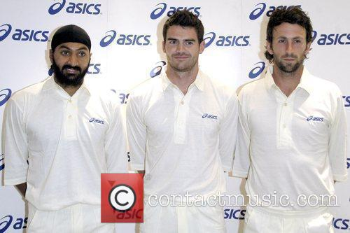 Monty Panesar, James Anderson and Graham Onions England...