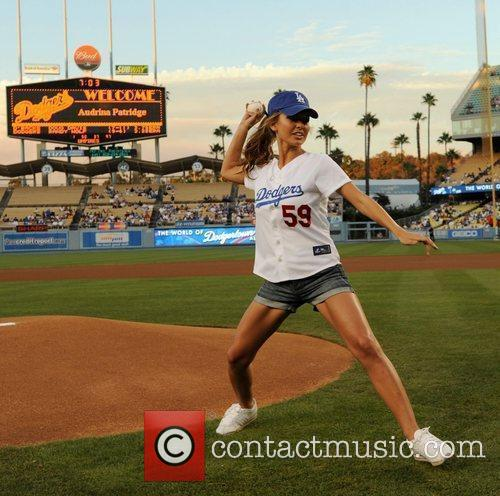 Audrina Patridge threw out the ceremonial first pitch...