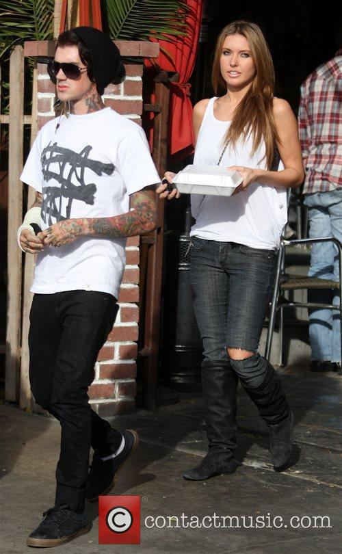 Audrina Patridge leaves Home Restaurant with carry-out after...