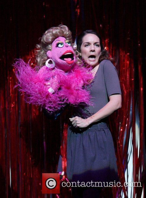 The cast and puppets from the adult-oriented 'Avenue...