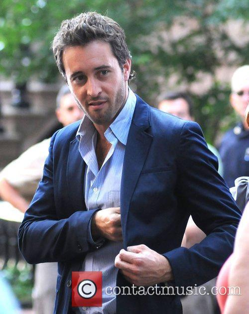 Alex O'Loughlin on the set of his new...