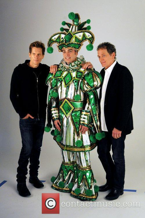 Kevin Bacon, Philadelphia Mummer Jim Werner and Michael...