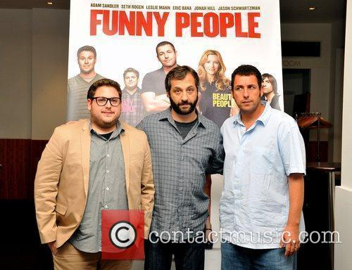 Cast and director of 'Funny People' at BAFTA...