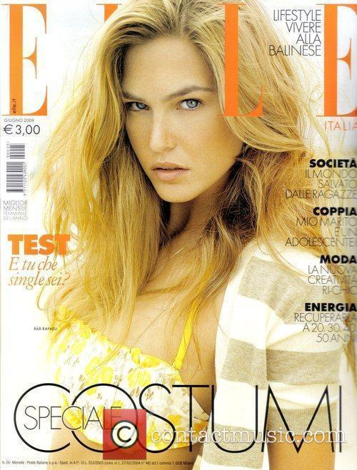 On the cover of the Italian Elle June...