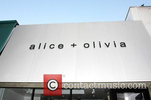 'Alice + Olivia' clothing store on Robertson Boulevard.