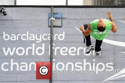 Participants Of The Barclaycard World Freerun Championship 2009 Held At Trafalgar Square 7