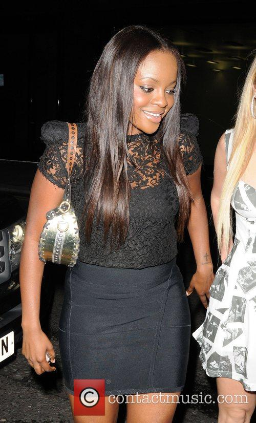 Keisha Buchanan outside the Baroque club London, England