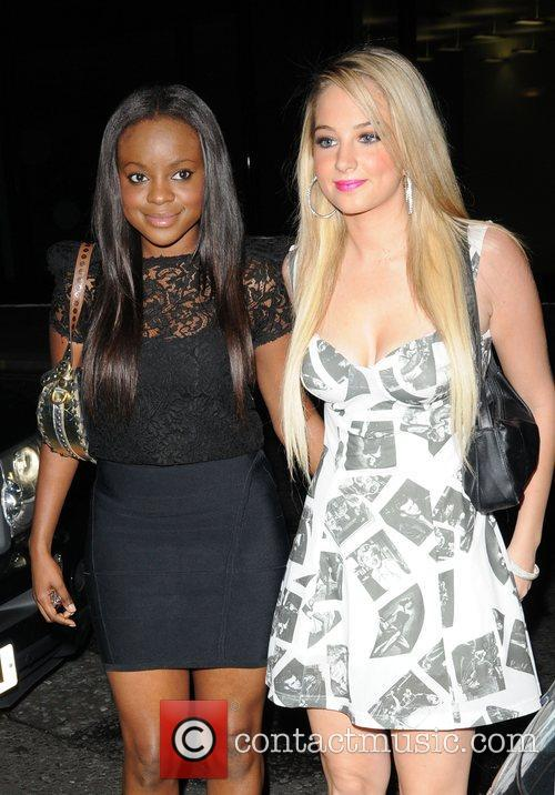 Keisha Buchanan and a friend outside the Baroque...