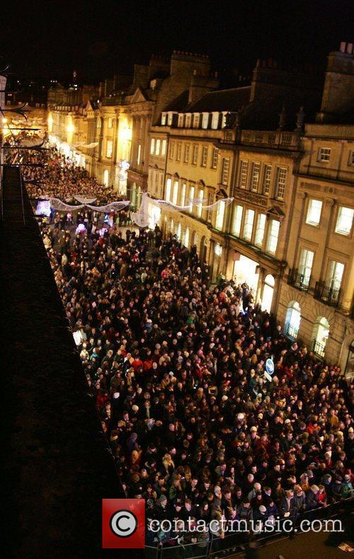 Christmas Lights 'Switch On' ceremony in Bath.