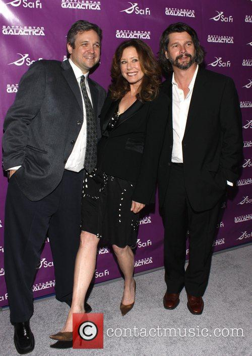 David Eick, Mary McDonnell and Ronald D. Moore...