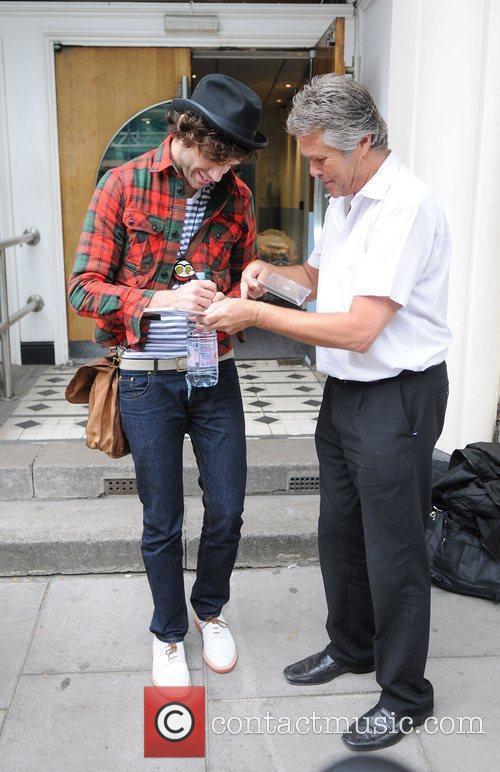 Mika leaving the BBC Studios in Maida Vale...