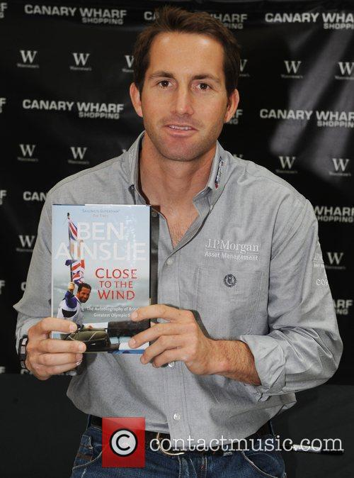 Ben Ainslie Signs Copies Of His Book 'close To The Wind' At Waterstones 2