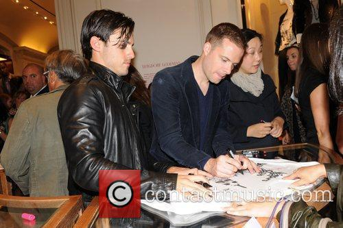 Milo Ventimiglia and Simon Spurr Bergdorf Goodman celebrates...