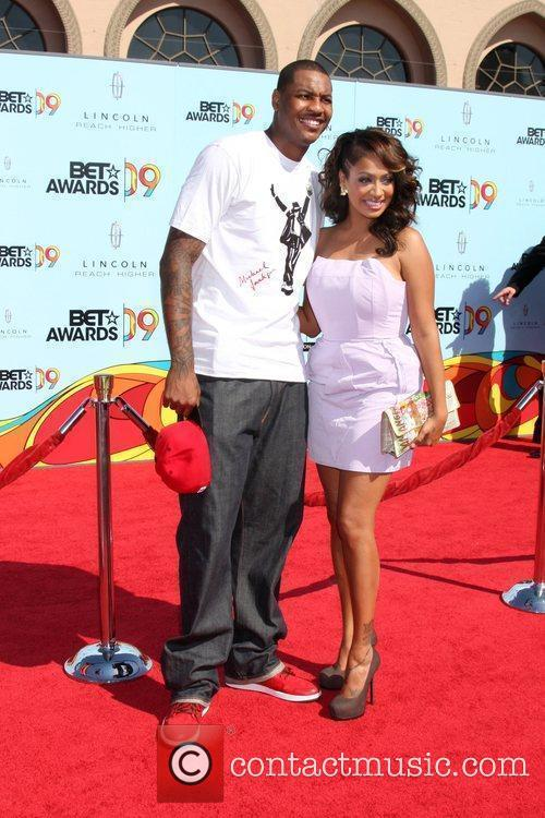 Carmelo Anthony and LaLa Vazquez 2009 BET Awards...