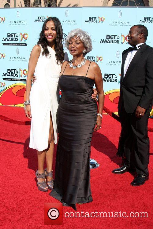 Zoe Saldana and Nichelle Nichols  2009 BET...