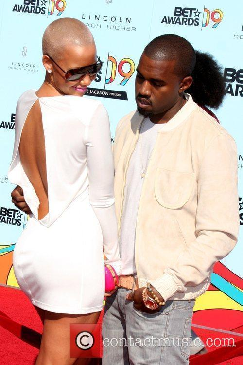 Amber Rose & Kanye West 2009 BET Awards...