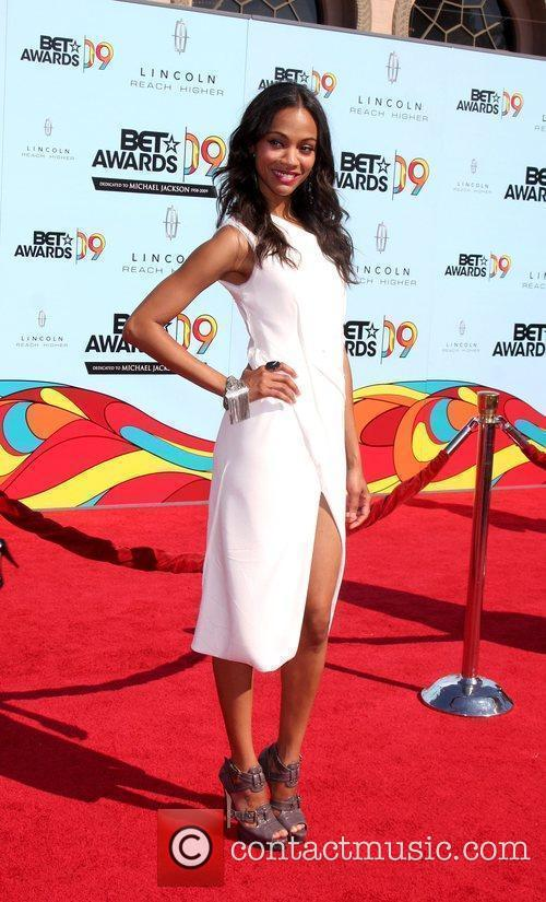 Zoe Saldana 2009 BET Awards held at the...