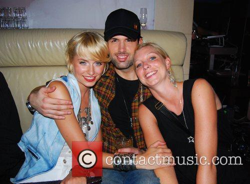 Lena Gercke, boyfriend Jay Khan, manager Daria Ed...
