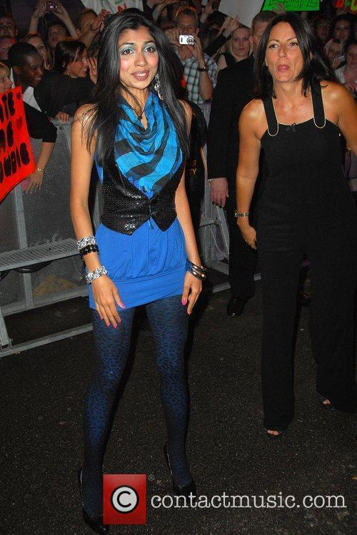 Hira Habibshah is met by Davina McCall after...