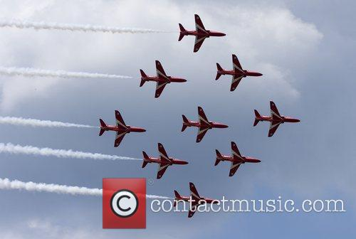 Royal Airforce's Red Arrows  display their new...