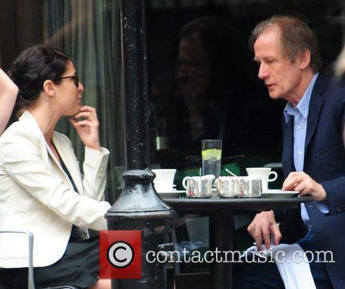 Bill Nighy  having lunch at Cecconi's restaurant...