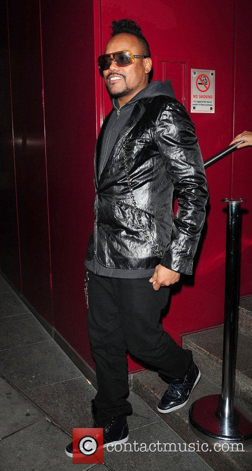 Of Blackeyed Peas leaving the Met Bar nightclub