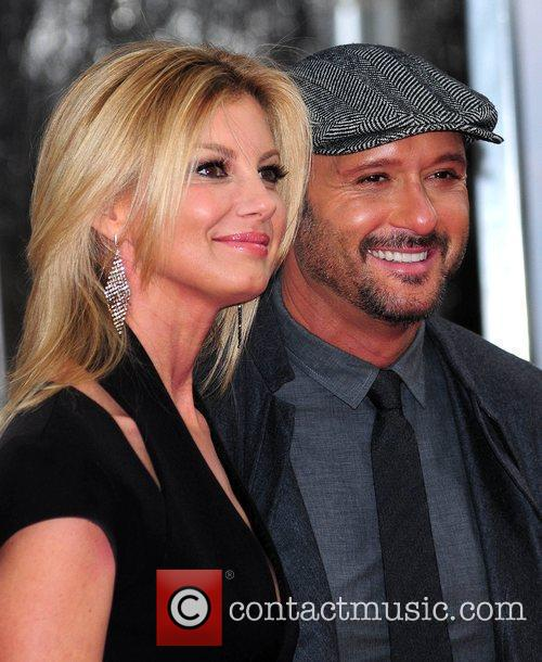 Musicians Faith Hill and Tim McGraw attend the...