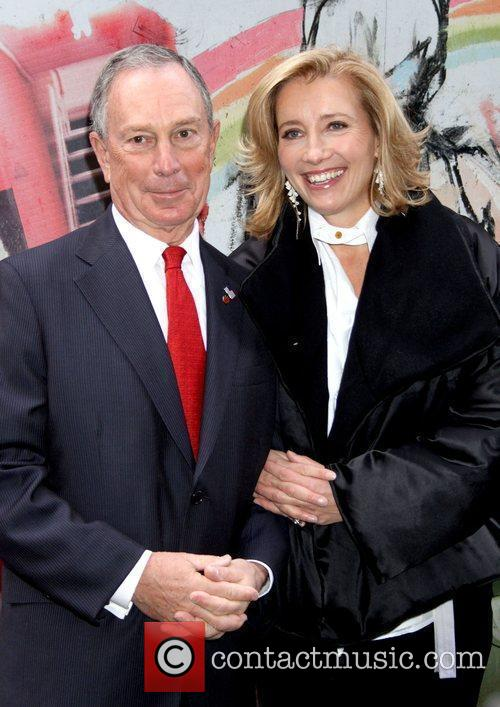Mayor Michael Bloomberg and Emma Thompson attends the...