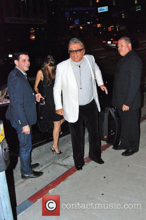 Celebrities outside BOA restaurant in West Hollywood