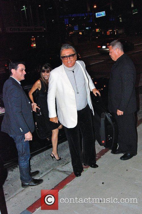 Robert Evans and family Celebrities outside BOA restaurant...