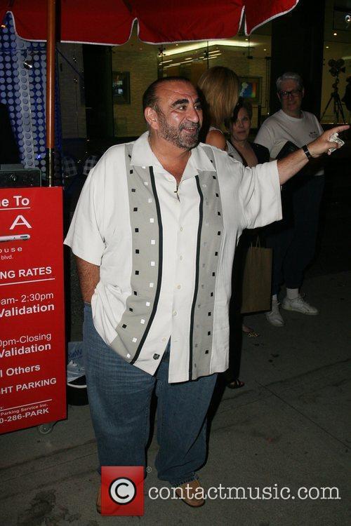 Ken Davitian leaving BOA Steakhouse in Beverly Hills...