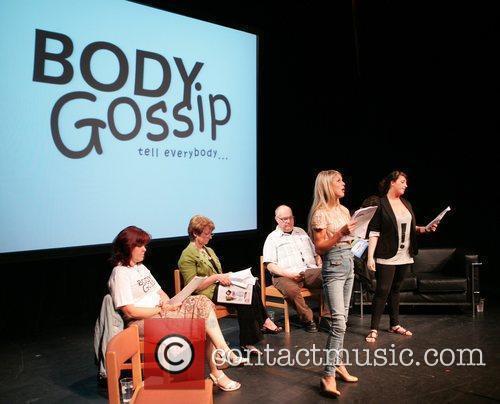 Anne Diamond, Nikki Grahame, Natalie Cassidy Celebrities rehearsing...