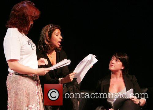 Shobna Gulati, Natalie Cassidy Celebrities rehearsing for 'Body...